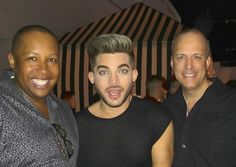"""Look who was surprised to see us? Why it's @adamlambert! He was so phenomenal that we had to meet him. Thank you @markshunock & @seedaro for introducing…"""