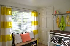 Shower Curtains on Windows : Once you find the right fit, shower curtains make a genius alternative to more-expensive window treatments. Many come in stylish designs that you'll be proud to move from the bathroom to the bedroom.   Source: The Suburban Urbanist   What a great idea!!!