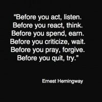 Before by Ernest Hemingway