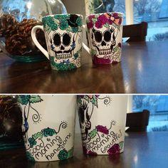 Sugar Skulls couple mugs - My Sugar Skulls