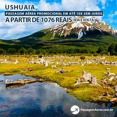 Promoção de passagem aérea para Ushuaia na Argentina.  Saiba mais: https://www.passagemaerea.com.br/ushuaia-argentina.html