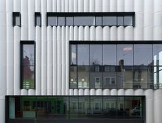 london based studio alison brooks architects recently completed the quarterhouse arts and business centre in folkestone, england. Mosque Architecture, Amazing Architecture, Architecture Design, Alison Brooks, Georgian Buildings, Facade Pattern, Building Skin, Business Centre, Facade Design