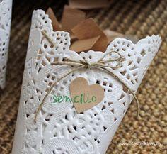 DIY para hacer con blondas en tu boda