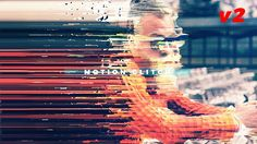 Extreme distort, color play, smear bars, white line overlay, grid, particles