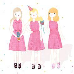 Think Pink - Illustration by Kris Atomic.