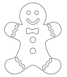 Christmas Gingerbread Men, Felt Christmas, Christmas Colors, Christmas Ornaments, Gingerbread Man Crafts, Christmas Stocking, Christmas Presents, Christmas Stencils, Christmas Templates