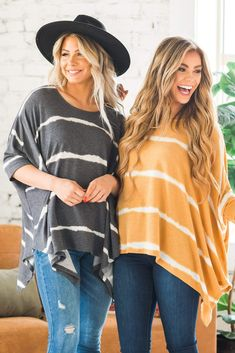 How trendy is our new Braylin Tie-Dye Poncho Tunic? We are loving the oversized long and loose fit of our poncho as well as the beautiful scoop neck and tie-dye detail! Made from super soft fabric, our poncho is a must-have this season! Wear our stylin' poncho with your favorite pair of skinnies and a fun floppy hat, and you're guaranteed to turn heads! Casual Outfit Ideas, Cute Casual Outfits