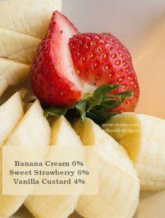 Strawberry banana eliquid recipe - Vous cherchez un e liquide milkshake ? Testez cette recette fraise banane, vous ne serez pas déçu. #vape #diy #eliquid