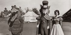Disneyland Characters Backstage - Early 1960s by Miehana, via Flickr