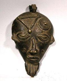 Baule Pendant Mask — Cote d'Ivoire - Ivory Coast  20th Century