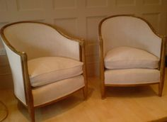 Contemporary Roman style tub chairs