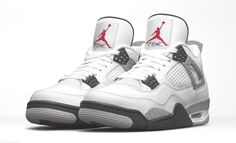 13914f016e5a52 Men s Nike Air Jordan 4 Retro  White Cement  Size 8-18  fashion