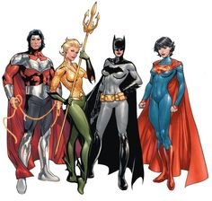 The Multiversity (DC Comics) Wonderus Man, Aquawoman, Batwoman, and Superwoman by Emanuela Luppachino, colours by Tomeu Morey - Visit to grab an amazing super hero shirt now on sale! Marvel Dc Comics, Math Comics, Heros Comics, Dc Comics Characters, Dc Comics Art, Comics Girls, Dc Heroes, Comic Character, Character Modeling