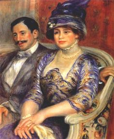 Portrait of M. and Mme. Bernheim de Villers by Pierre-Auguste Renoir Size: cm Medium: oil on canvas Pierre Auguste Renoir, Claude Monet, French Impressionist Painters, Impressionist Artists, August Renoir, Renoir Paintings, Oil Paintings, Georges Seurat, Manet