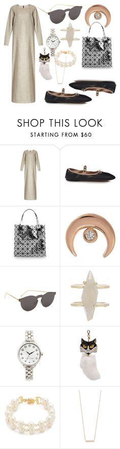 """""""big fashion Wear"""" by denisee-denisee ❤ liked on Polyvore featuring Albus Lumen, Valentino, Bao Bao by Issey Miyake, Jacquie Aiche, Illesteva, Kendra Scott, Marc Jacobs, Miu Miu, Venessa Arizaga and EF Collection"""