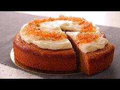 Tarta de Zanahoria muy Fácil, Esponjosa y Jugosa Cake With Cream Cheese, Cream Cheese Frosting, Confectioners Sugar, Tea Cakes, Stick Of Butter, Cake Pans, Carrot Cake, Bagel, Baking Soda