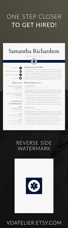 Nurse resume template for modern professionals Suitable as - nurse resume template free
