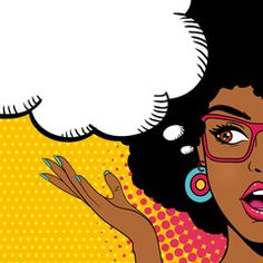 Sexy surprised afro american woman looking to the side with open mouth and speech bubble. Vector background in pop art retro comic style. - Comprar este vetor do stock e explorar vetores semelhantes no Adobe Stock Pop Art Women, Black Women Art, Pop Art Girl, Black Girl Art, Pop Art Wallpaper, Cute Wallpaper Backgrounds, Up Imagenes, Afro, Pop Art Face