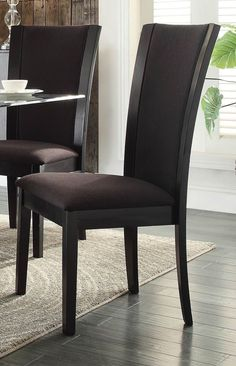 Home Elegance Havre 7Pcs Dining Set with Dark Brown Chair 5021