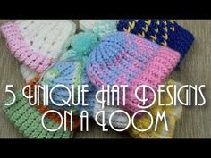 ▶ 5 Unique Hat Designs on a Loom! - YouTube