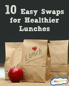 10 Easy Ideas to make school lunches healthier School Lunch Menu, Kids Lunch For School, Make School, Healthy School Lunches, School Days, High School, Healthy Food Swaps, Healthy Kids, Real Food Recipes