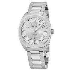 c1dbc7fadb9 Gucci YA142402 Mens GG2570 Silver Quartz Watch