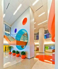 another fun, bright, modern lobby