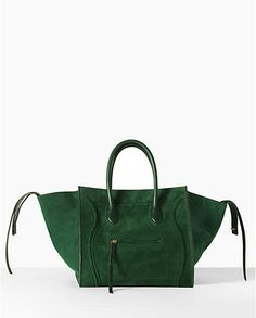 the celine phantom bag.  in green suede.  oy.