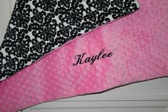PERSONALIZED Luxury Minky Dot Blanket  EmbroideryMark  www.embroiderymark.etsy.com