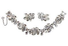 Weiss Clear Faceted Bracelet & Earrings | One Kings Lane