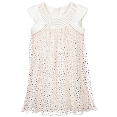 IKKS Ivory & Rose Gold Metallic Star Tulle Dress at Childrensalon.com