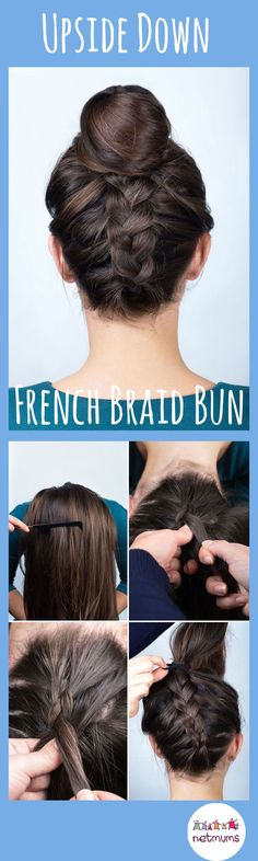 Try this upside down french braid bun. Braids have been a massive trend lately, but some of them look so fiddly. Here we have a great selection of easy hairstyles that you can recreate at home.