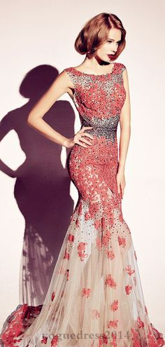 Dany Tabet - only the lipstic is too dark for a soft look #promdress