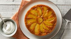 Fresh apples and pumpkin come together in this upside-down dessert that makes 2 cakes, so it's sure to be a crowd pleaser!