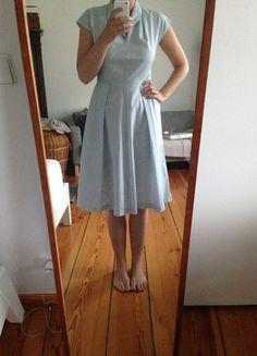 40 er 50er Jahre Kleid gestreift