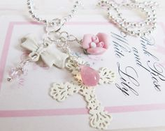 Cross pendant necklace, by romanticcrafts, $11.90