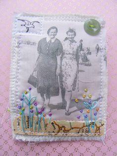 textile brooch