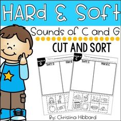 This resource is a perfect way to give your kiddos hands on practice with Hard and Soft C and G sounds.This no prep file includes a cut and sort pages for Hard/Soft C and Hard/Soft C These cut and sorts would be great for your literacy centers, whole group practice, or small group practice.