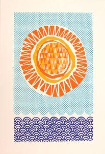 Zoe Murphy 'Summer Swim' signed artist screen print 95gbp