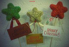 Estrellas decoradas navideñas.