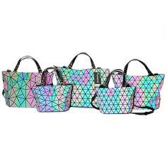 88a00dc5d55e DVODVO Women BaoBao Bag Geometry Sequins Mirror Saser Plain Folding Bags  Luminous Handbags Ladies brand Tote Bao Bao Package-in Shoulder Bags from  Luggage ...
