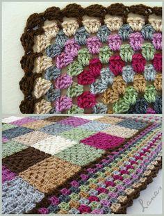 Lanas de Ana: Blanket: Study in Squares