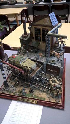 German and Russian clash, 1:35 Diorama