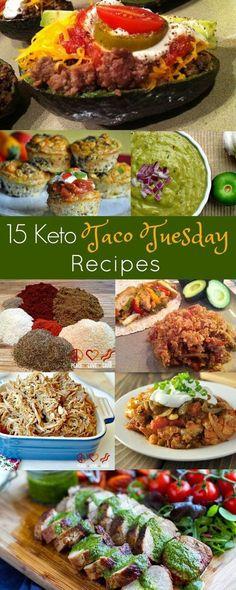 15 Keto Taco Tuesday Recipes   Peace Love and Low Carb  via @PeaceLoveLoCarb
