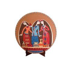 Decorative plate Armenian dinner hand painted plate by Essenziale