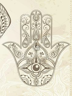 Hamsa Hand Tattoo, Hamsa Art, Hand Tattoos, Sleeve Tattoos, Flower Tattoos, Arabic Tattoos, Henna Mandala, Mandala Art, Hamsa Drawing