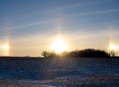 Aussi appelé Faux Soleil, il s'agit d'un phénomène optique faisant apparaître deux répliques de l'image du soleil de part et d'autres de celui-ci. Très rare, sa durée d'apparition varie entre quelques secondes et une dizaine de minutes. Le phénomène prend place lorsque le soleil est assez bas sur l'horizon et que l'atmosphère est chargée de cristaux de glace. Lors de leur chute, ces cristaux peuvent tous s'orienter dans le même sens et former un réseau qui reflète et réfracte la lumière…