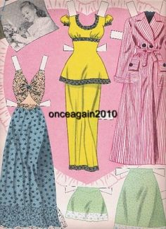 1946 Betty Grable paper doll clothes / eBay