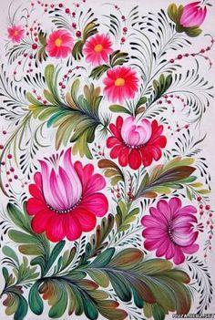 Petrykivka art , Ukraine, from Iryna