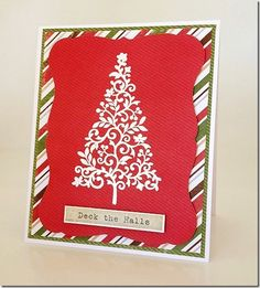 Quick Christmas Card design using Hero Arts Stamp and Echo Park Paper created for Aussie Scrap Source